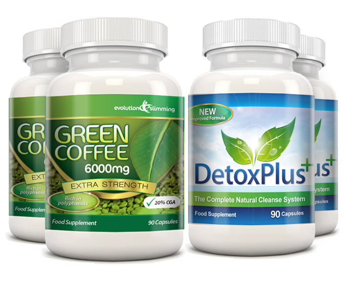 EVO_GreenCoffee6000mg_2BottlesWith2XDetoxPlus