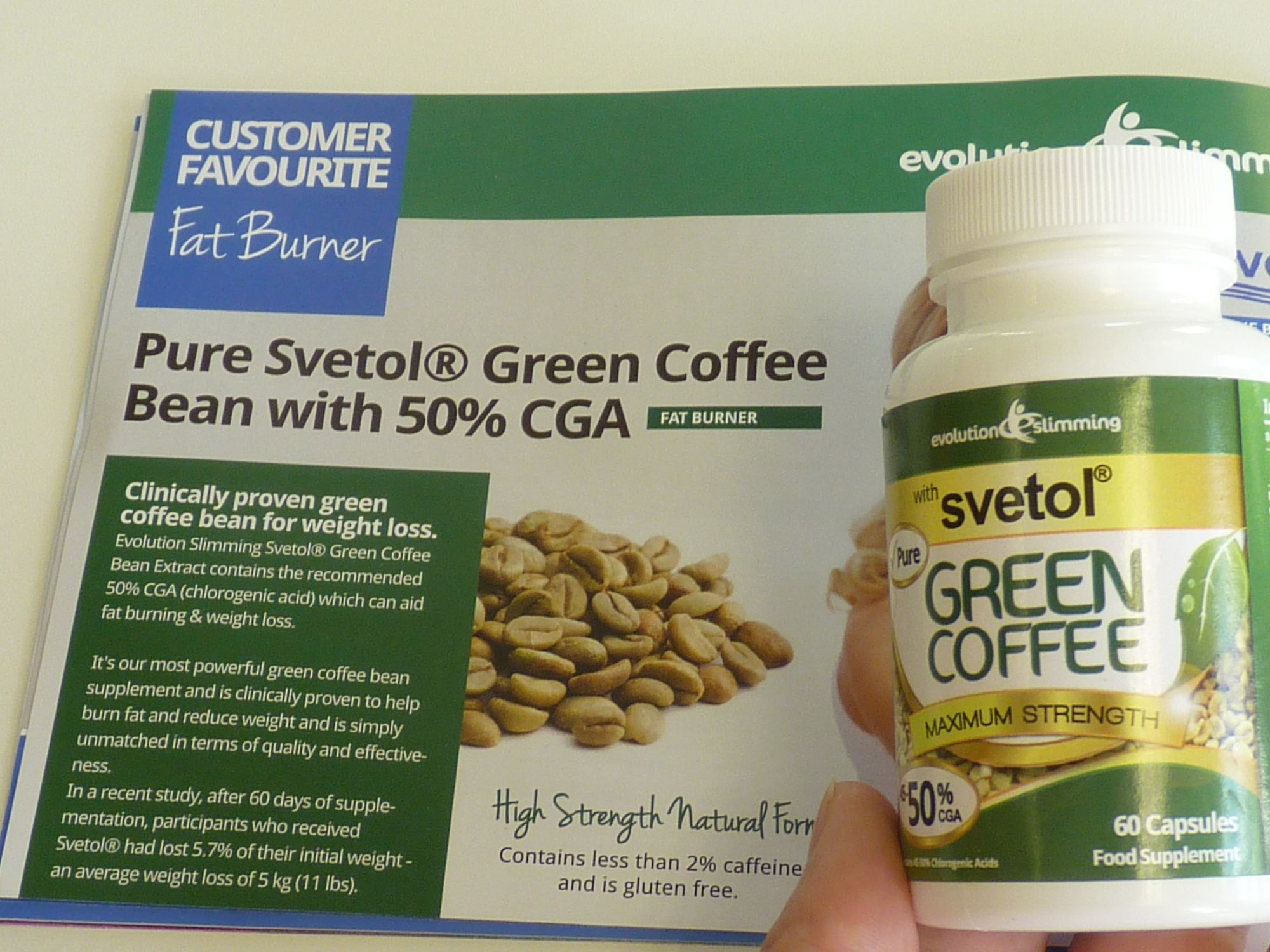 svetol green coffee bean extract with gca