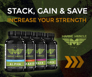 Marine Muscle Banners - Strength Stack 300 x 250