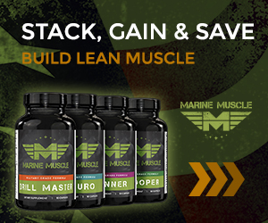 Marine Muscle Banners - Bulking Stack 300 x 250