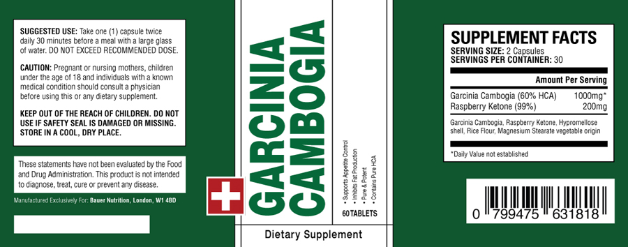 Garcinia Cambogia Bauer Nutrition Review - Scam or good for you