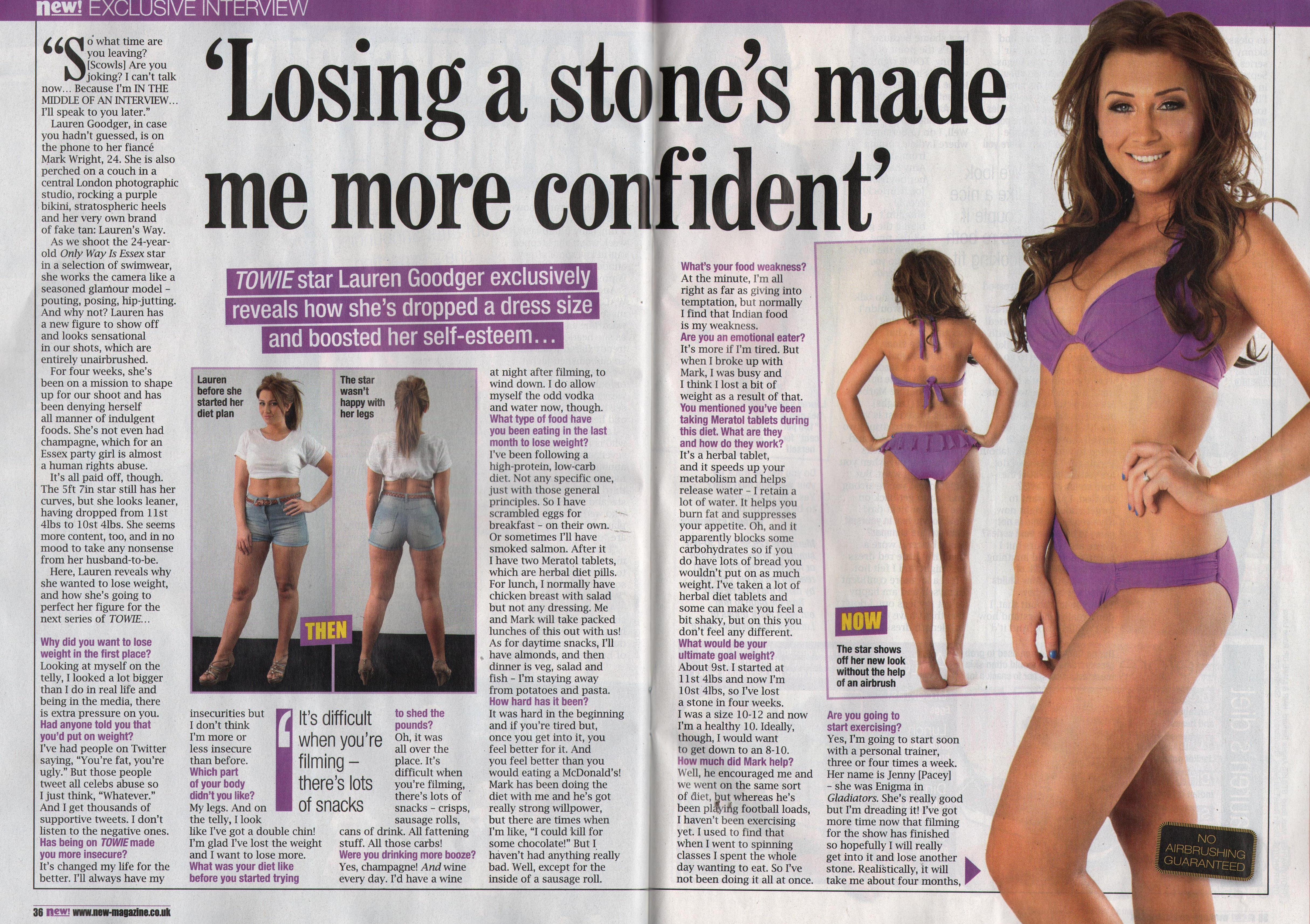 Meratol Weight Loss Pills Success Story Lauren Goodger