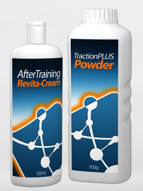 Dopo la Formazione di Revita Crema per Idratazione e TractionPlus Polvere per una Migliore Aderenza
